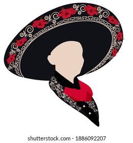 Sombrero realistic mexican hat vector illustration. Mariachi. cinco de mayo festival holiday celebration object. Spanish latin fiesta accessory, tradition headwear. Mexican wide brimmed sombrero hat.