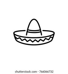 sombrero vector icon