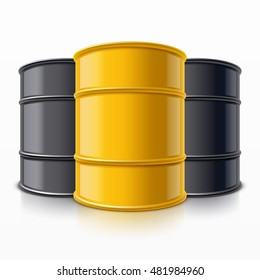 Some barrels for oil, chemical waste or other liquids