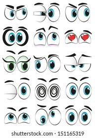 Some cartoon eyes expressing different moods.