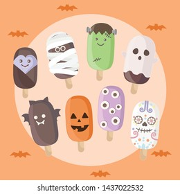 Some cute, fancy, and funny idea for Halloween treats, including homemade Halloween ice cream, candy, cakes, treats on a stick and more goodies.