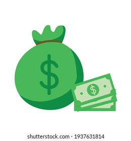 Some Dollar Money Vector Illustration