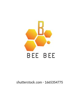 Some hexagon logo icons that resemble a beehive with the addition of the letter B above
