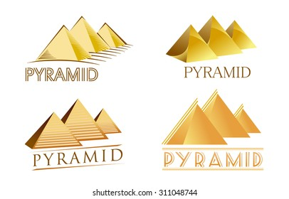 Some logos in the form of pyramids