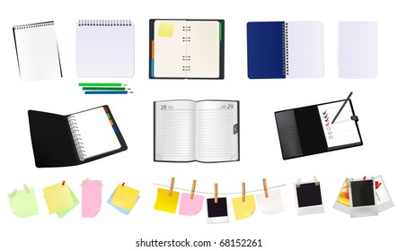 Some office supplies. Vector.