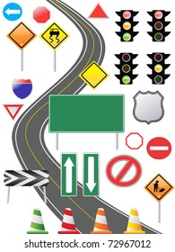 some traffic sign icon for web design