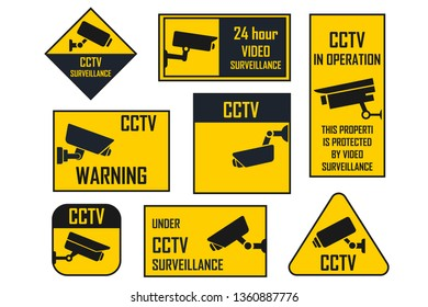 Some warning signs that there is CCTV