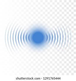 Sonar wave sign. Vector illustration. Radar icon