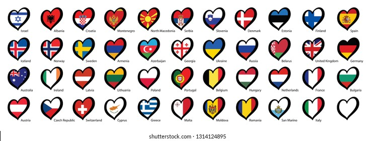 Song festival Euro songfestival Eurovision contest 2020 the Netherlands Holland Dutch NL flag Fun Funny Music Musical notes love heart Logo sign signs Grand Final party symbol countries country vector