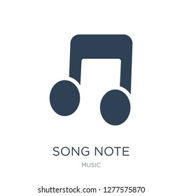 song note icon vector on white background, song note trendy filled icons from Music collection, song note vector illustration