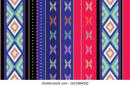 Songket Design, Vector. Traditional Malay motif. Songket developed in the culture of the Malay family in Sumatra, Indonesia