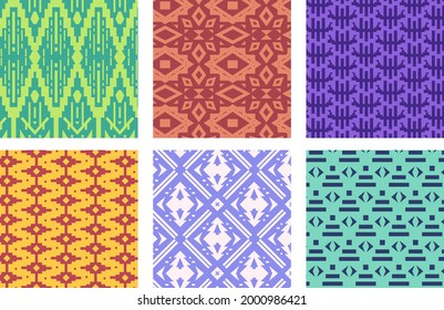 Songket pattern. Abstract geometric ethnic design - indian, bali , malaysia, indonesian, peru, mexico, aztec, african, slavic repeat motif pattern. Boho texture. Folk style. Vector illustration.