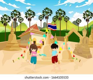 songkran festival Songkran holiday is luscious