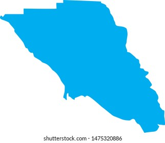 Sonoma county map in the state of California