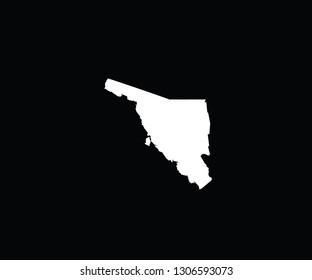 Sonora outline map Mexico state