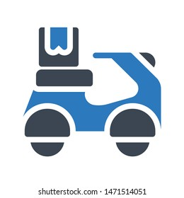 sooter delivery glyph colour vector icon