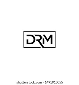 sophisticated and modern DRM letter logo vector