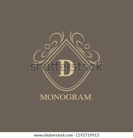 sophisticated monogram template simple logo design stock vector