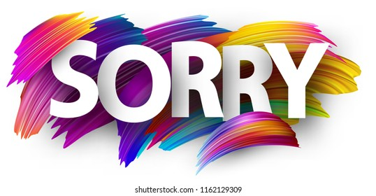 I am Sorry Images, Stock Photos & Vectors | Shutterstock
