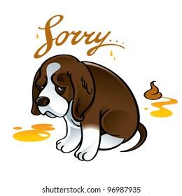 Sorry sad puppy dog pet shame