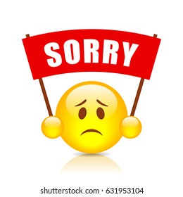 Sorry vector sign on white background