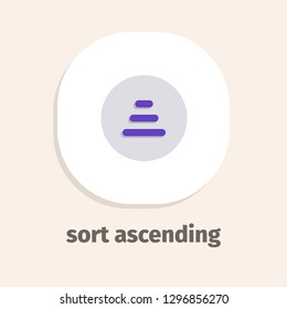 Sort ascending vector flat icon for web and mobile applications