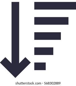 Sort Descending Vector Icon