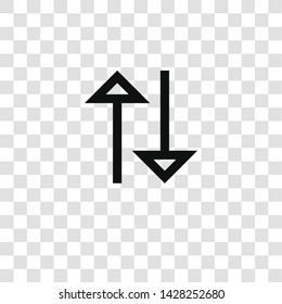 sort icon from miscellaneous collection for mobile concept and web apps icon. Transparent outline, thin line sort icon for website design and mobile, app development