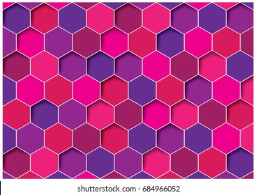 Sorting hexagon abstract background