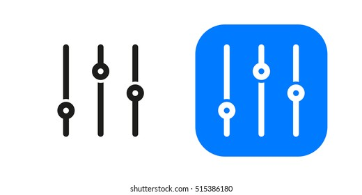 Sorting options icon isolated on background. Minimalistic filter icon. Vector icons for web and mobile applications, web sites and infographics. Thin line art