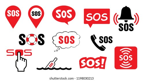 SOS symbool medical logo Vector eps icon sign signs distress signal life saver Lifebuoy pointer speech bubble sos call marker alarm help location pin sos logo safety first AED icon cpr location Aid