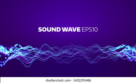 Soud wave vector abstract background. Electronic element equalizer. Music motion signal