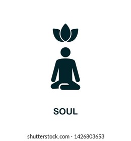 Soul  icon illustration. Creative sign from mindfulness icons collection. Filled flat Soul icon for computer and mobile. Symbol, logo  graphics.
