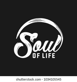 Soul of life typography logo.