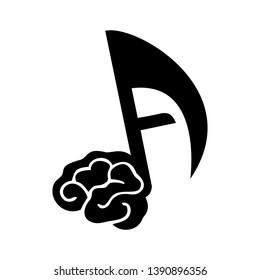 sound audio brain logo abstrak