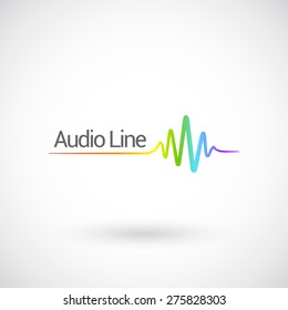 Sound & Audio Waves, vector logo design template.