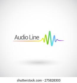 Sound & Audio Waves, vector logo design template.