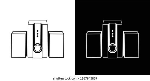 sound box on black background