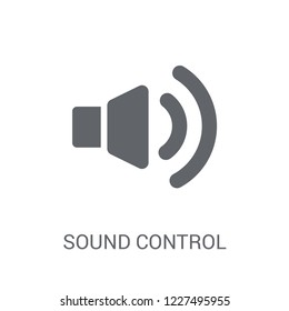 sound control icon. Trendy sound control logo concept on white background from General collection. Suitable for use on web apps, mobile apps and print media.