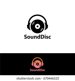 Sound Disc Logo Template Design