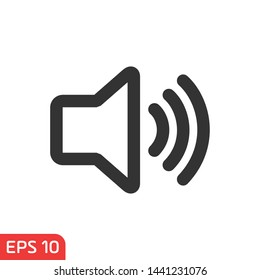 Sound icon template black color editable. Volume warning symbol vector sign isolated on white background vector illustration for graphic and web design.