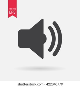 Sound icon vector, Speaker sign Isolated on white background.  listening to music, Volume on off concept. Audio waves. Flat style for graphic design, logo, Web site, social media, UI, mobile app, EPS