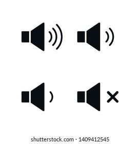 Sound icon vector ,volume icon vector illustration