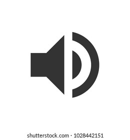 Sound icon. volume, volume on, voice, signal sign. music, melody,beat, audio, video sound sign vector illustration for web and mobil app