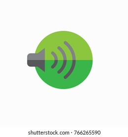 Sound icon with wave image vector illustration