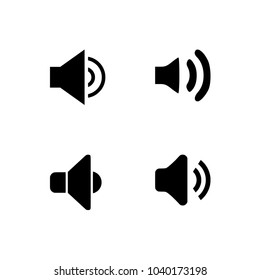 Sound icons set vector EPS 10, Audio signs, buttons, elements Isolated. Music, volume concept. Transparent background.