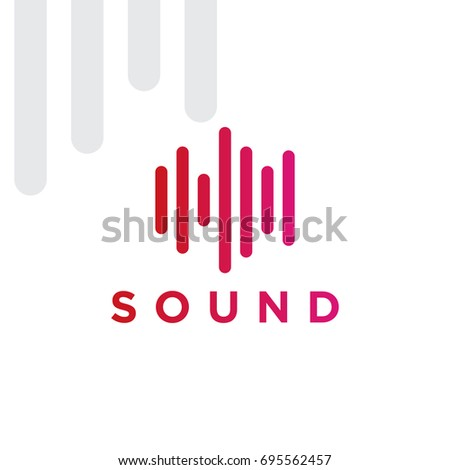 Sound Logo Design Template Musical Instrument Stock Vector (Royalty ...
