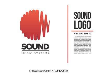 Sound logo vector illustration