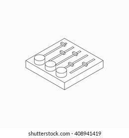 Sound mixer console icon, isometric 3d style