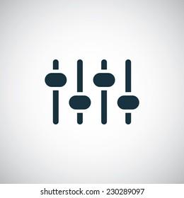 sound mixer icon on white background